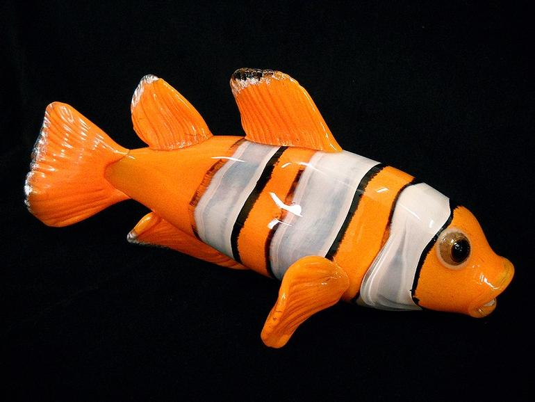 Clown Tropical Reef Glass Fish Sculpture Wall Sculpture - NEMO (Soul ...